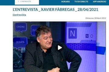 Entrevista a Xavier Fàbregas a TV Girona